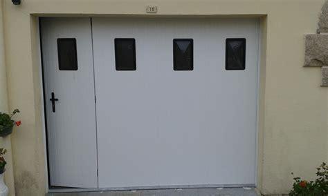 porte de garage lat 233 rale coulissante pvc manuelle