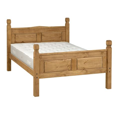 pine bed king size bed frame