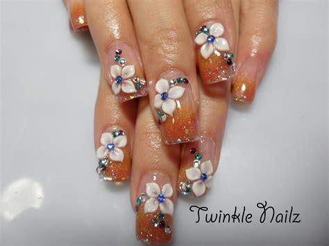 3d acrylic paint nail beutiful nail painting