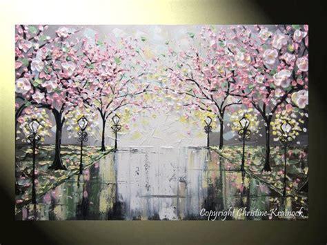 flower tree painting s 246 k p 229 work flower tree palette knife and