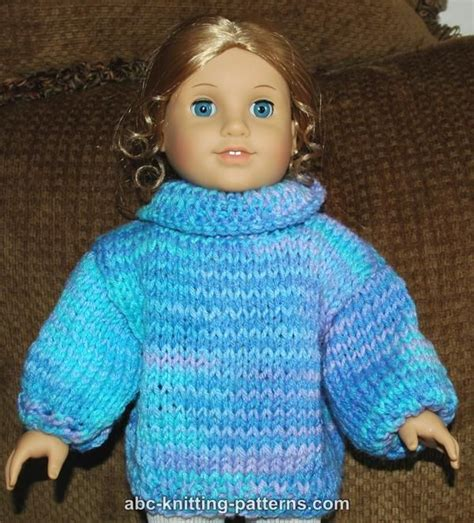 free knitting patterns for american dolls abc knitting patterns american doll basic sweater