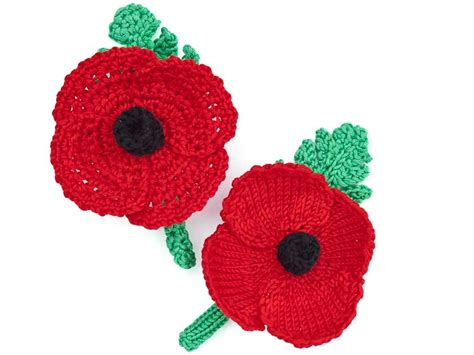 how to knit a poppy flower how to make a knitted or crochet poppy wreath