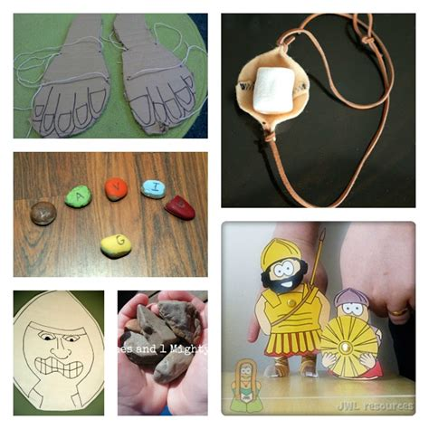 bible crafts for david and goliath craft project images
