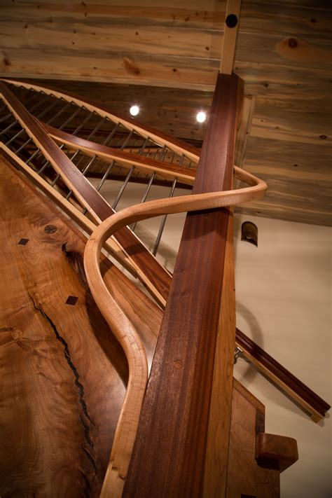 woodwork seattle custom staircases stair design curved stairs by nk