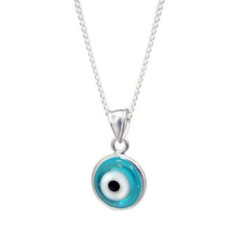 evil eye bead necklace sterling silver evil eye charm necklace thecharmworks