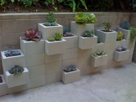 cinder block garden wall cinder block garden