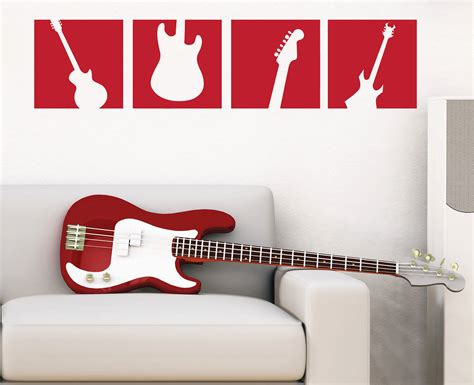 guitar wall stickers guitar wall decal squares vinyl wall sticker boy