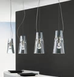glass kitchen lighting contemporary clear glass pendants from leucos the kon
