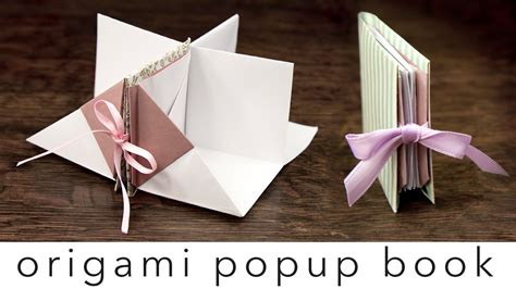 how to do book origami origami popup book tutorial diy crafts