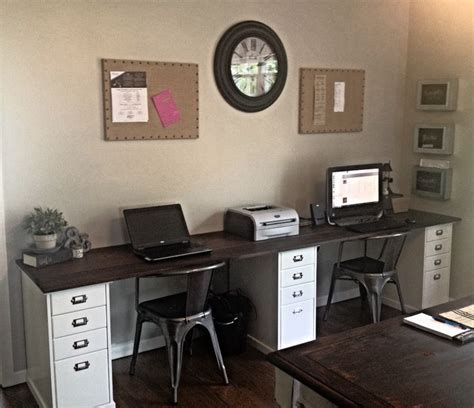 two person home office desk best 25 two person desk ideas on 2 person