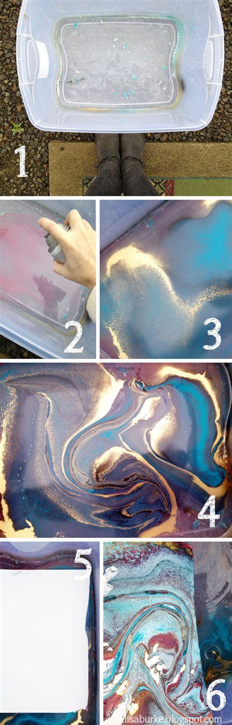 paper use spray paint alisaburke marbleize it