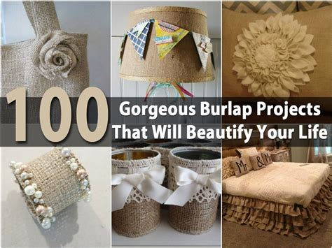 burlap crafts projects 100 gorgeous burlap projects that will beautify your