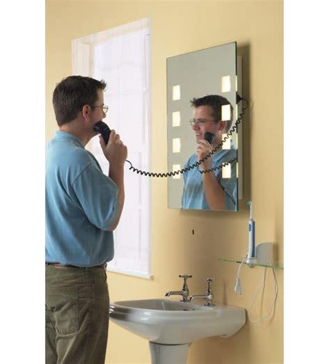 bathroom mirror with shaver point illuminated bathroom mirror with shaver socket decor