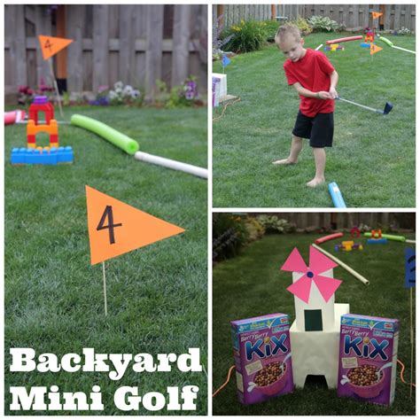 backyard mini golf outdoor backyard mini golf course 183 kix cereal