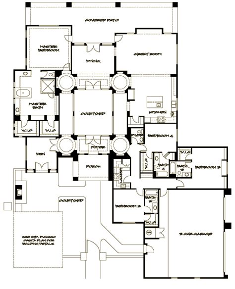 interior courtyard house plans house plan interior courtyard home design and style