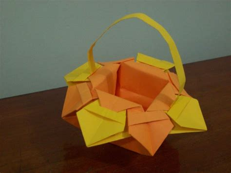 how to make origami flower basket origami flower basket by craft lover on deviantart