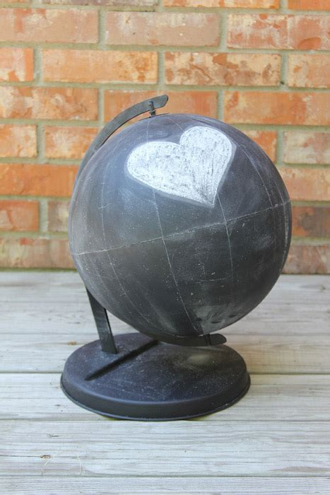 chalkboard globe diy top 25 diy projects of 2013 the d i y dreamer
