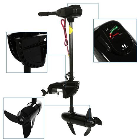 Electric Motor Battery by Outboard Engine Boat Motor Electric Saltwater Freshwater