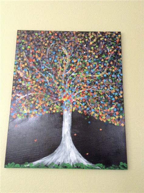 how does acrylic paint on canvas take to things to paint finger painting trees