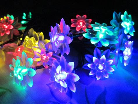 string flower lights decoration solar lights solar flower string lights