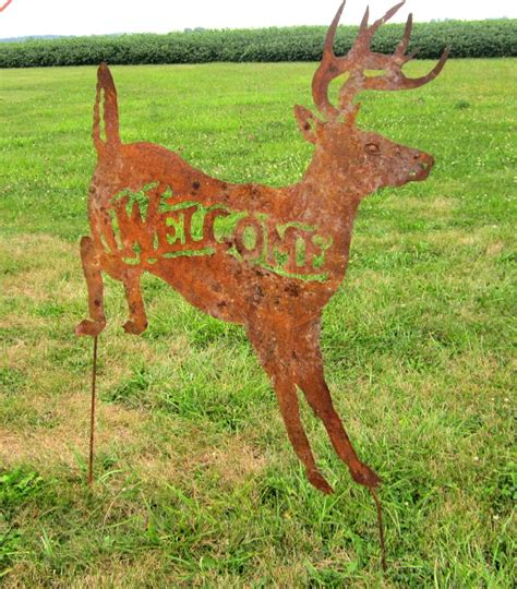 yard deer rustic metal deer welcome yard 28 images rustic metal