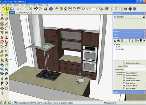 designing a kitchen with sketchup sketchup kitchen design using dynamic component cabinets