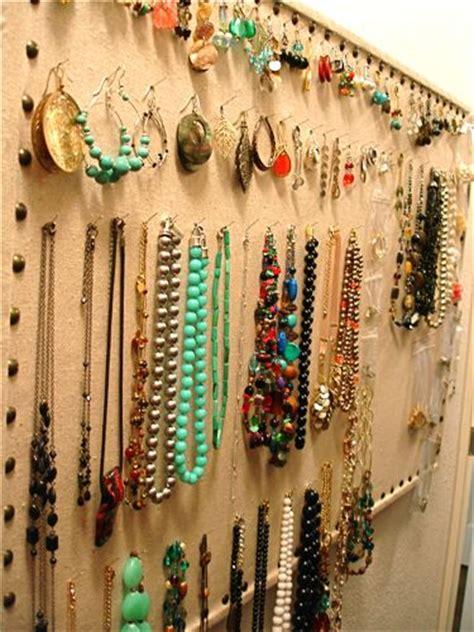 how to make a jewelry display board nailhead bulletin board jewelry display