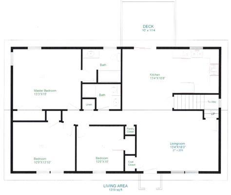 open floorplans simple open floor house plans sun valley homes basic single story modern small home log plan