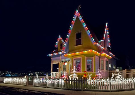 light up house up house lights real up house from the disney