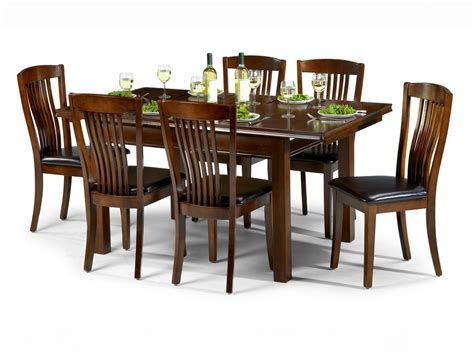set of dining table and chairs julian bowen canterbury 120cm mahogany dining table and 6