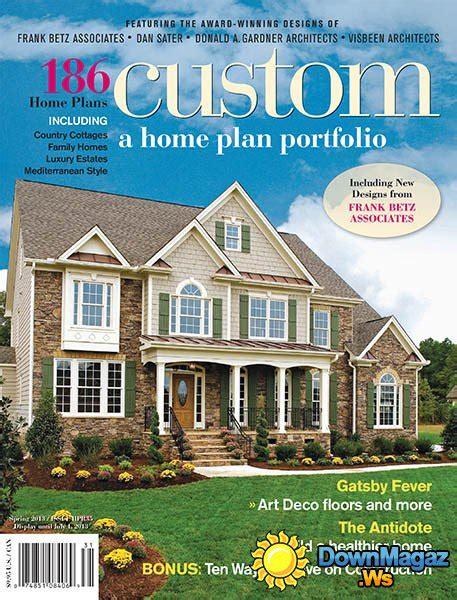 house plan magazines custom a home plan portfolio 2013 187 pdf magazines magazines commumity