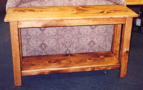 "Solid Pine ""Mission"" Sofa Table   Boulder Furniture Arts"