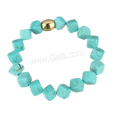 synthetic turquoise synthetic turquoise bracelet with stainless steel gold