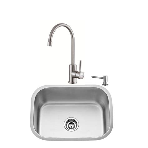 all in one kitchen sinks kraus all in one undermount stainless steel 23 in single
