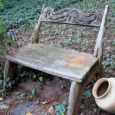 chalk paint outdoor furniture hometalk stencil an outdoor bench with chalk paint