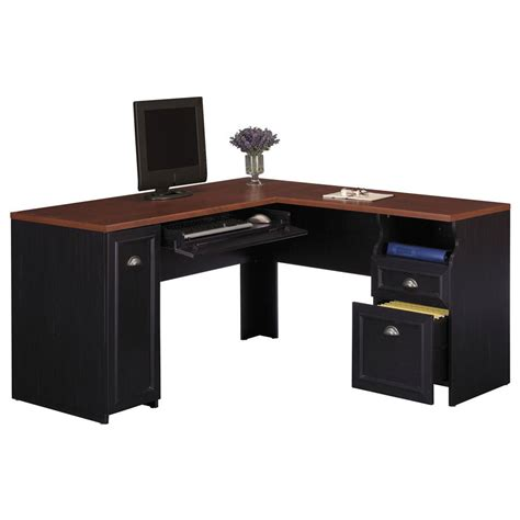 l computer desk bush fairview l shaped desk wc53930 03k free shipping