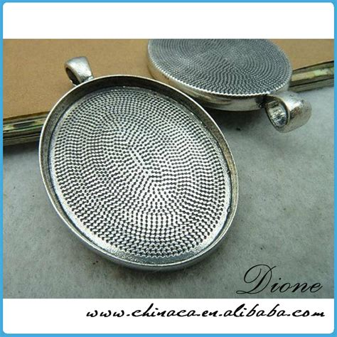 metal findings for jewelry metal jewelry findings 18x25mm silver oval pendant trays