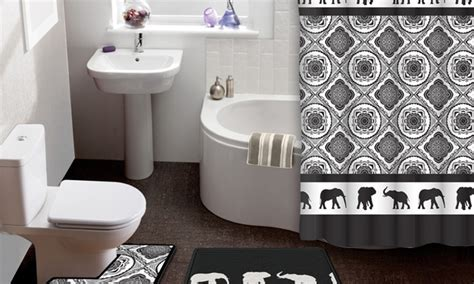 elephant bathroom rug elephant parade 15 shower curtain and bath rug set