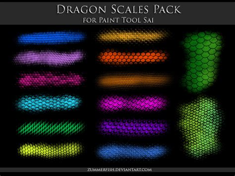 paint tool sai pack zip paint tool sai scales pack by zummerfish on