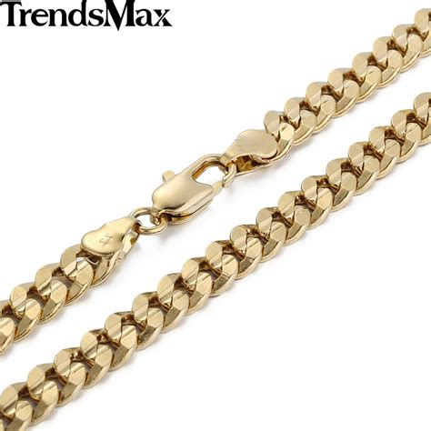 how to make gold filled jewelry trendsmax 6mm boys mens chain curb cuban chain gold filled