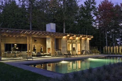 house plans with pool house guest house stylish pool house with a contemporary design