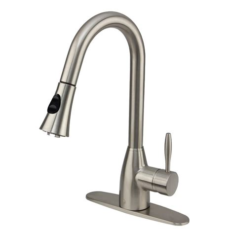 vigo kitchen faucet vigo single handle pull out sprayer kitchen faucet with deck plate in stainless steel