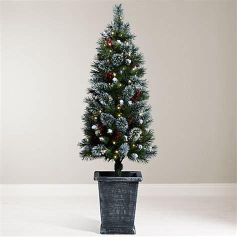 pre lit tree sale uk buy lewis pre lit potted tree 4 5ft