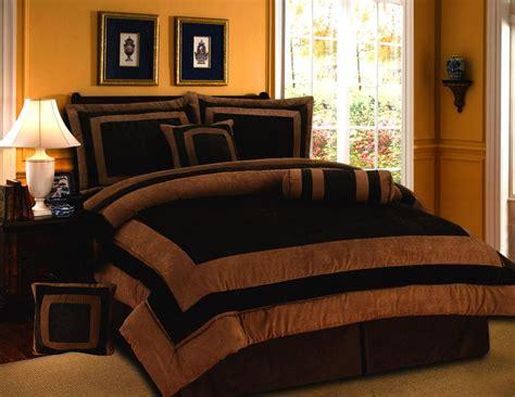 chocolate brown comforter set brown orange bed comforters home garden gt bedding