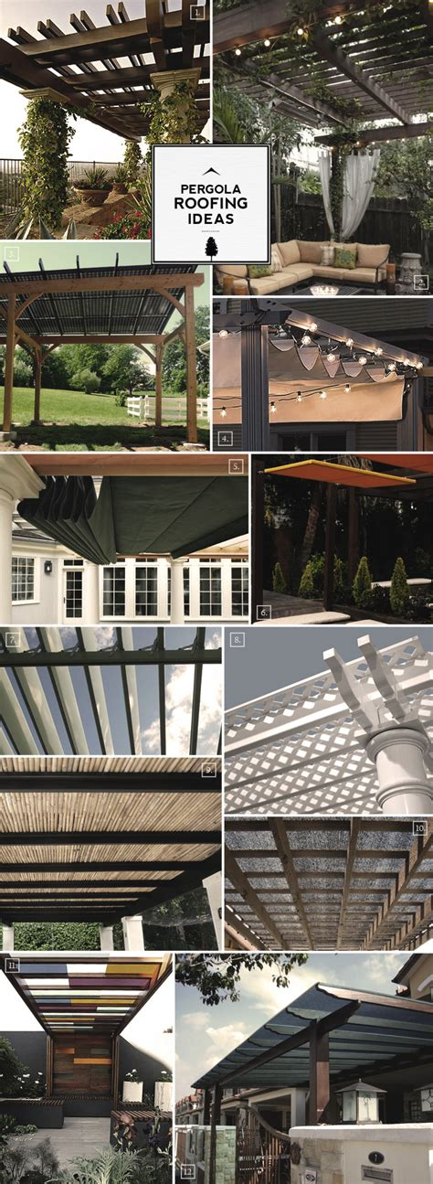 roofing for pergolas pergola roofing design ideas from the to the