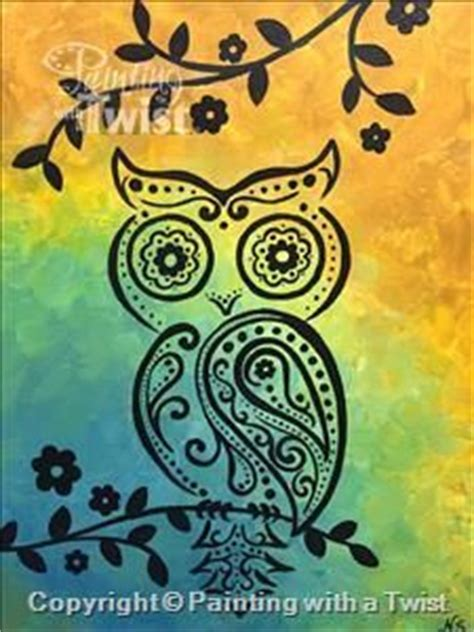 paint with a twist sugar land c paisley owl all ages houston tx sugar