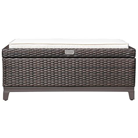 outdoor storage ottoman bench outdoor storage ottoman bench santa outdoor wicker