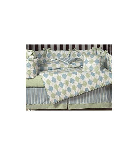jojo crib bedding sets sweet jojo designs argyle green blue 9 crib