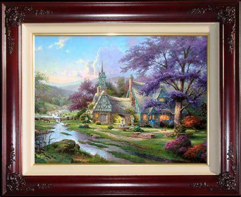 kinkade clocktower cottage kinkade paintings clocktower cottage 18x27 g p