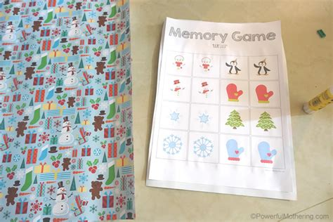 how to make a memory card free printable memory for winter